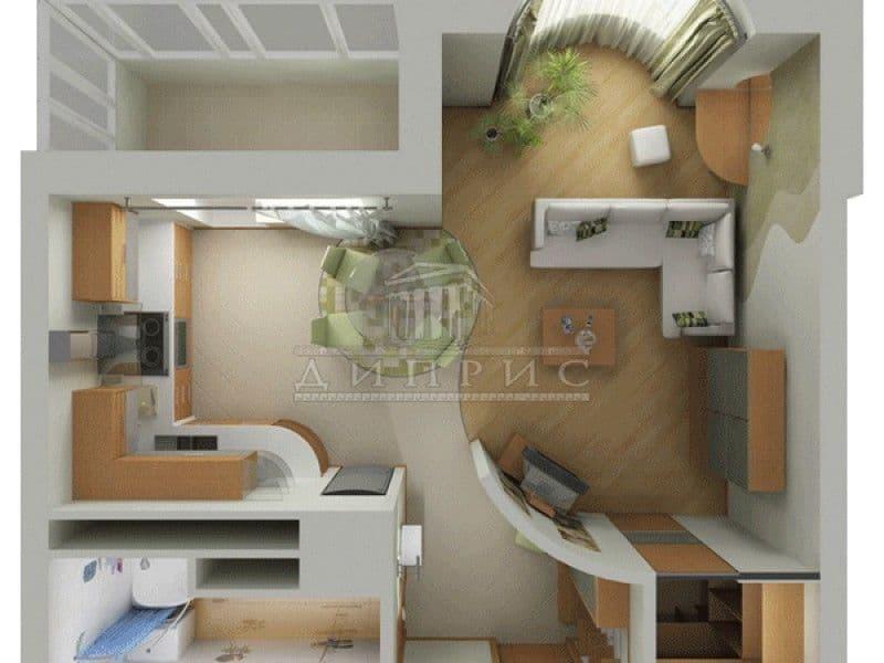 Перепланировка маленькой квартиры фото