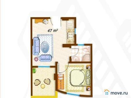 Продажа 2-комнатной квартиры, 47 м², Хургада, эль ахея