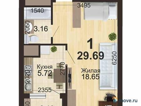 Продаю 1-комнатную квартиру, 30 м², Рязань, шоссе Солотчинское, Корпус 2