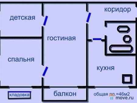 Продается 3-комнатная квартира, 46 м², Ужгород, Александра Капуша, 31