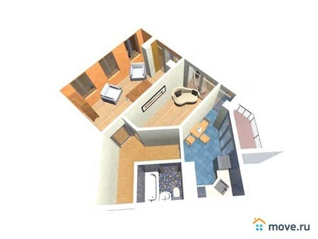 Продается 2-комнатная квартира, 60 м², Вологда, Детский переулок, 5