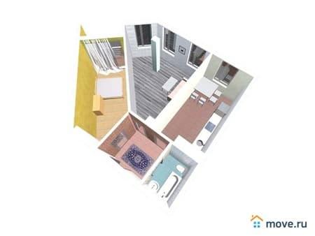 Продам 2-комнатную квартиру, 59 м², Вологда, Детский переулок, 5