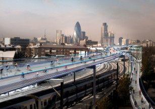 Лондонские новостройки будут возводить над железнодорожными путями