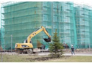 В «Образцовом квартале 3» начались фасадные работы.