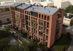 Пятая часть ЖК с апартаментами является реконструированными зданиями