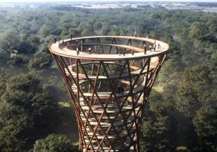 Датчане строят спиралевидную башню из дерева
