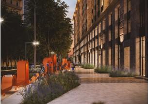 Новая улица Верхняя от Донстрой: скамья-трансформер, качели и арт-объекты