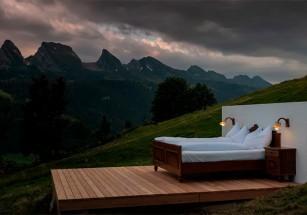 Отель без стен и крыши в Швейцарии привлекает тысячи посетителей
