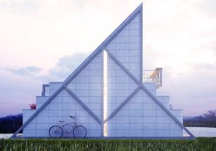 Бразильский архитектор спроектировал дом на основе металлического каркаса