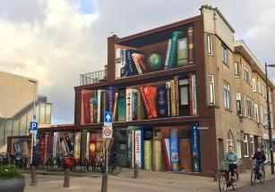В Нидерландах появился дом с «книжным шкафом» на фасаде
