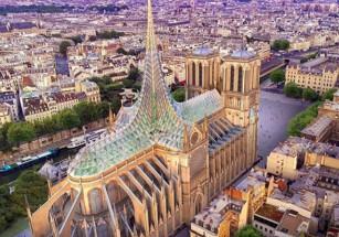 Бельгийский архитектор предложил украсить Нотр-Дам хрустальным куполом