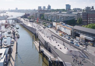 В Гамбурге построили набережную по проекту Zaha Hadid Architects