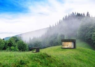 Мобильные дома-спальни установлены в горах во Франции