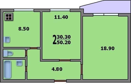 Квартира меблирована, также, по отдельной договоренности, мебель можно добавить, можно...  Схема квартиры.