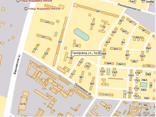 Схема район чертаново
