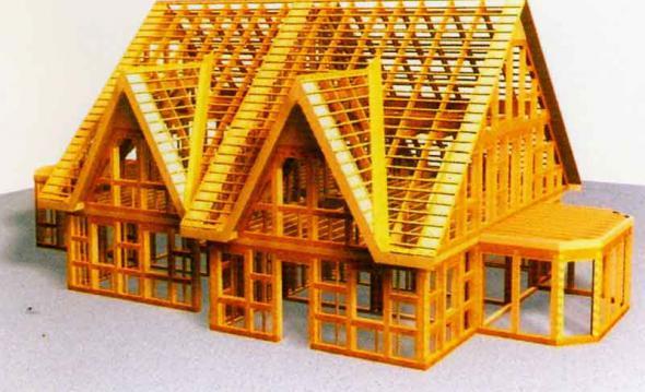 Такой вид каркасного дома позволяет строить дома самой разнообразной планировки и этажности. каркасно-панельные.